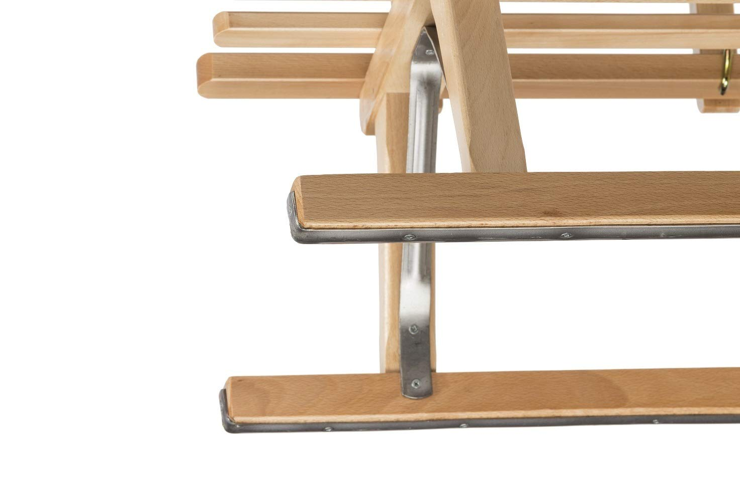 europ/äisches Buche Massivholz Impag/® H/örner Klapp-Schlitten 115 cm Blau Sport-Qualit/ät