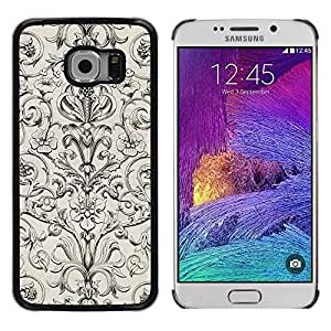 iKiki Tech / Estuche rígido - Poker Vintage Wallpaper Floral Pattern - Samsung Galaxy S6 EDGE SM-G925