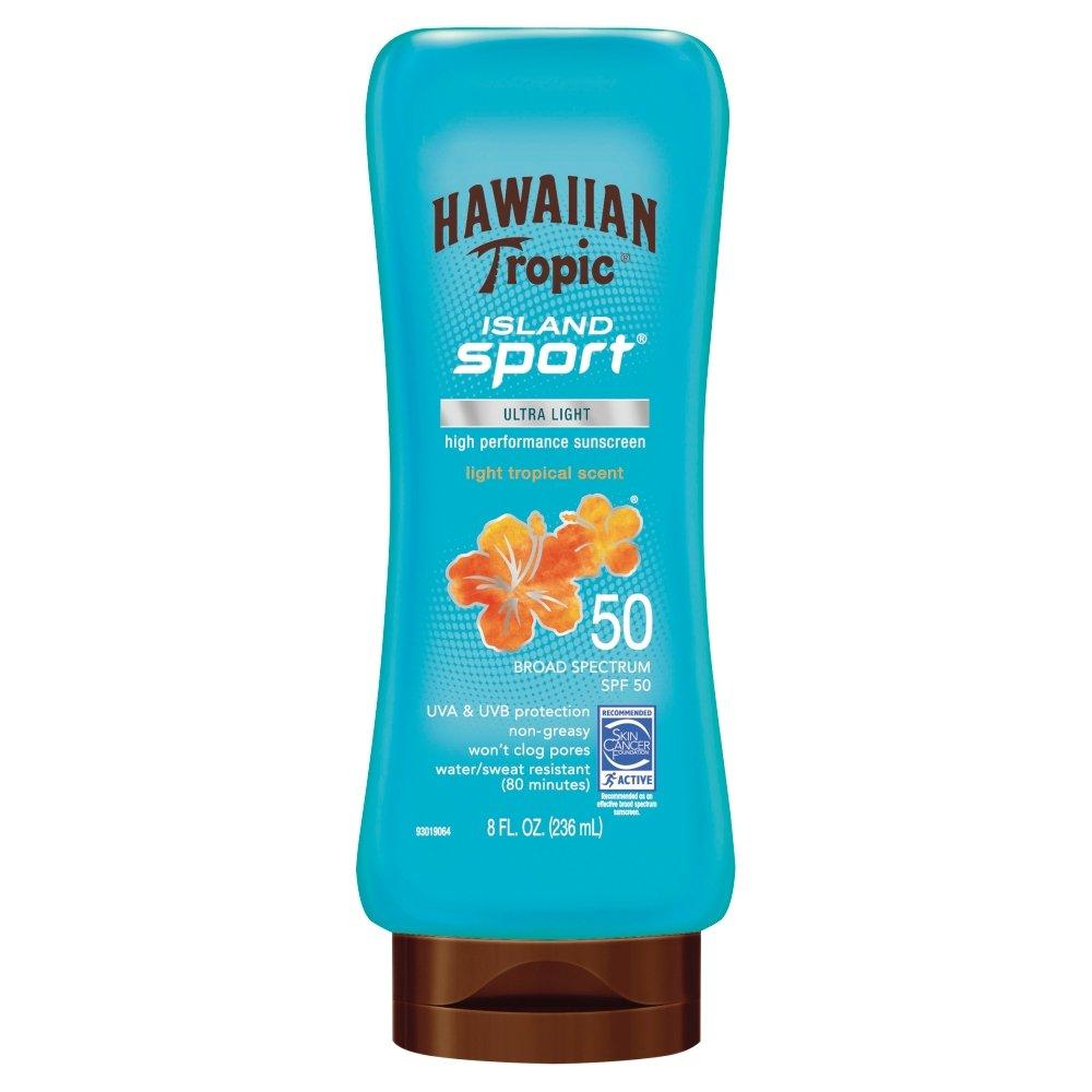 Hawaiian Tropic アイランドスポーツ広域スペクトル日焼け止めローション、SPF 50-8液量オンス   B01MY051NZ