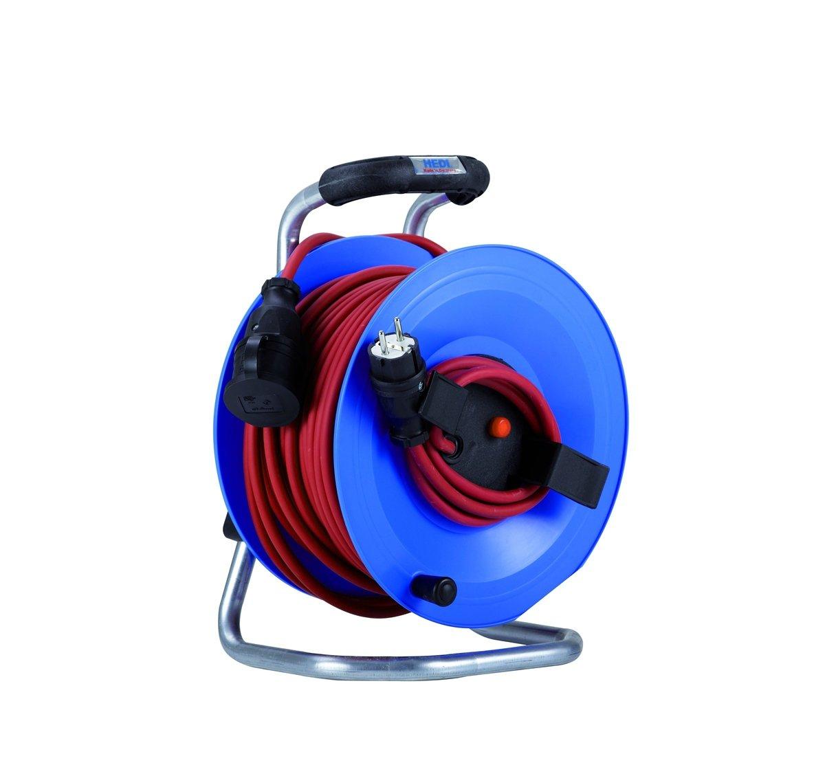 HEDI G2Y25NTF010 Kunststoff-Kabeltrommel Professional 25 m m m für Außen, blau NEU B07F1Y16GZ | Outlet Store  517bf9