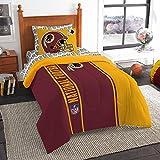 "Northwest NFL Washington Redskins Soft & Cozy Twin 5 Piece 64"" x 86"" Red Comforter Set"