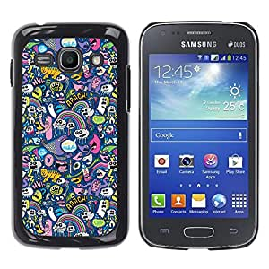 Paccase / SLIM PC / Aliminium Casa Carcasa Funda Case Cover para - Cats Ghost Monster Wallpaper Colorful Design - Samsung Galaxy Ace 3 GT-S7270 GT-S7275 GT-S7272