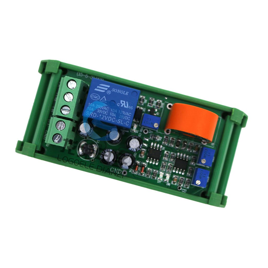 MagiDeal AC 0-5A Current Detection Sensor Module Linear Adjustable Relay Output
