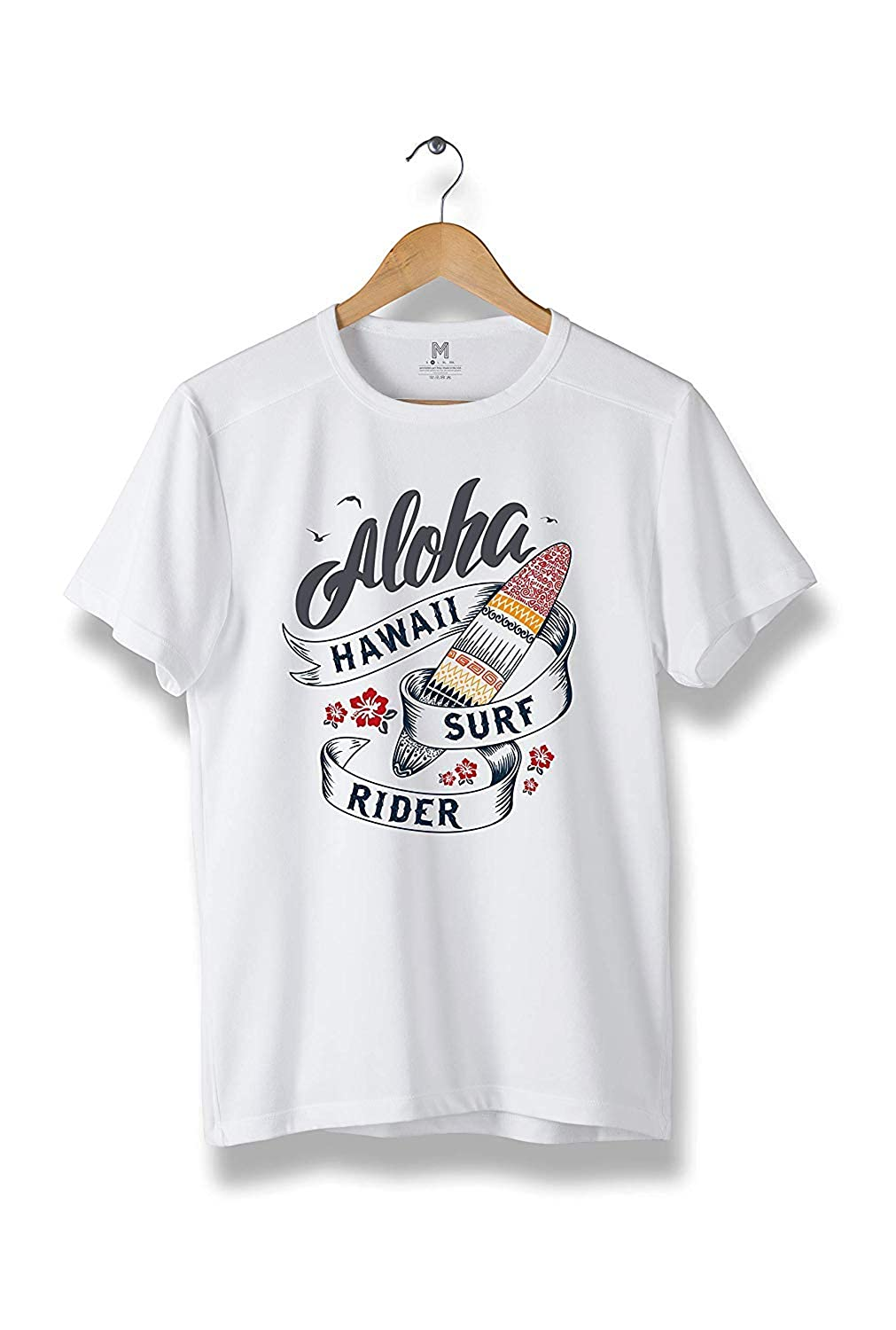 Aloha Hawaii Surf Rider T-Shirt Modern Cool Tees for Men R85