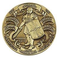 Moneda de desafío de alto relieve para armadura de Dios de forja antigua (1 paquete)