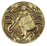 Forge Antique Finished Armor of God High Relief Challenge Coin (1 pack)