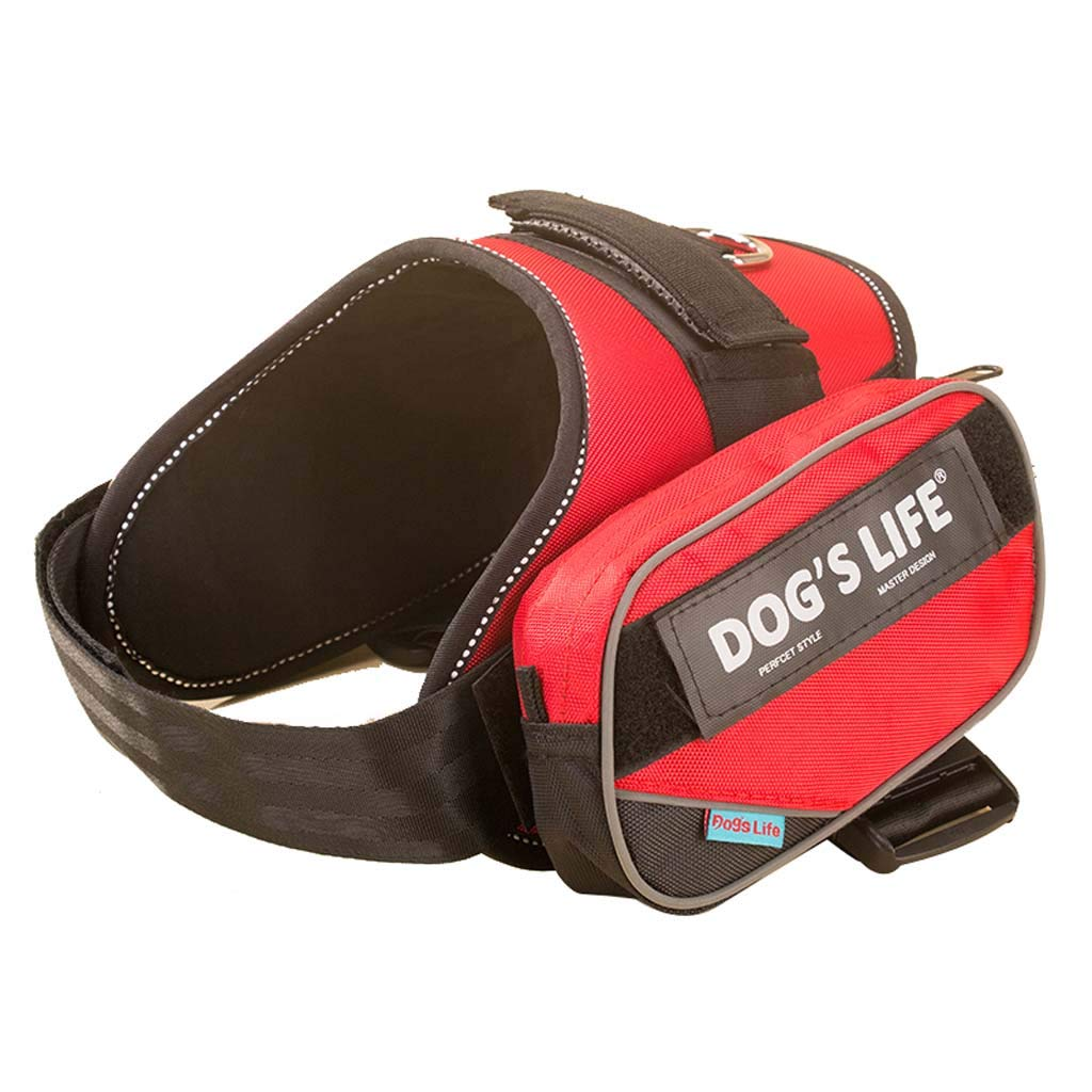 B Medium B Medium Dog Saddle Bag Durable Waterproof Pet Chest Strap Tactical Breathable Dog Harness Backpack for Traveling Hiking Camping, Medium Size,B,M