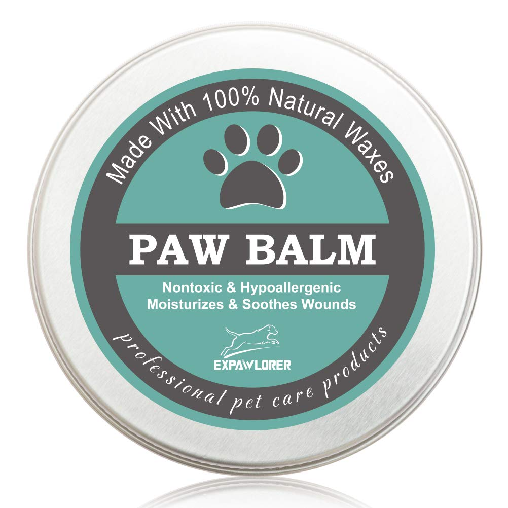 EXPAWLORER Paw Balm for Dogs and Cats, 100% Organic and Natural Paw Wax Protection, Heal and Repair Damaged Dog Paws by EXPAWLORER