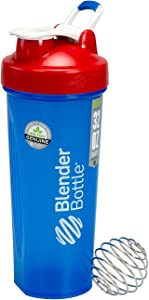 BlenderBottle Full Color Bottle - All American Colors with Shaker Ball - Red, White, and Blue - 32oz