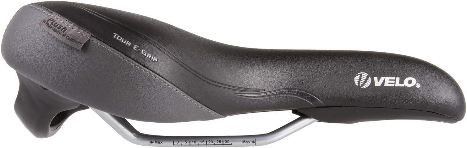 Negro Velo Fahrradsattel E-Grip Sill/ín para Bicicleta Hombre