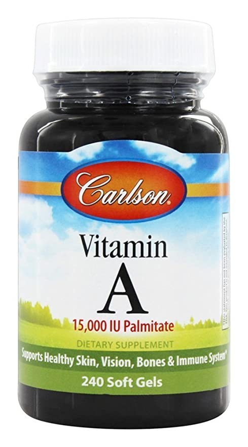 La vitamina A, 15.000 UI palmitato, 240 Cápsulas - Laboratorios de Carlson