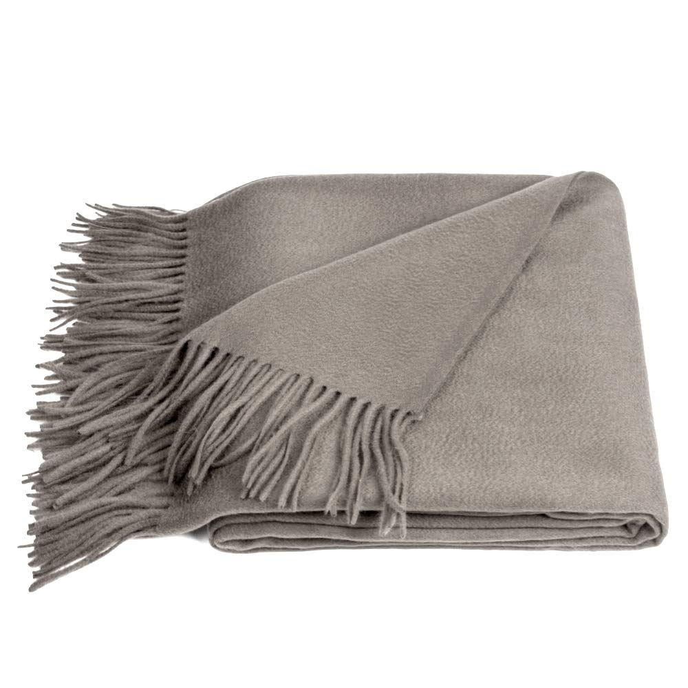 Ash Wool Throw Blanket /グレーPleid B00PG3LJFG