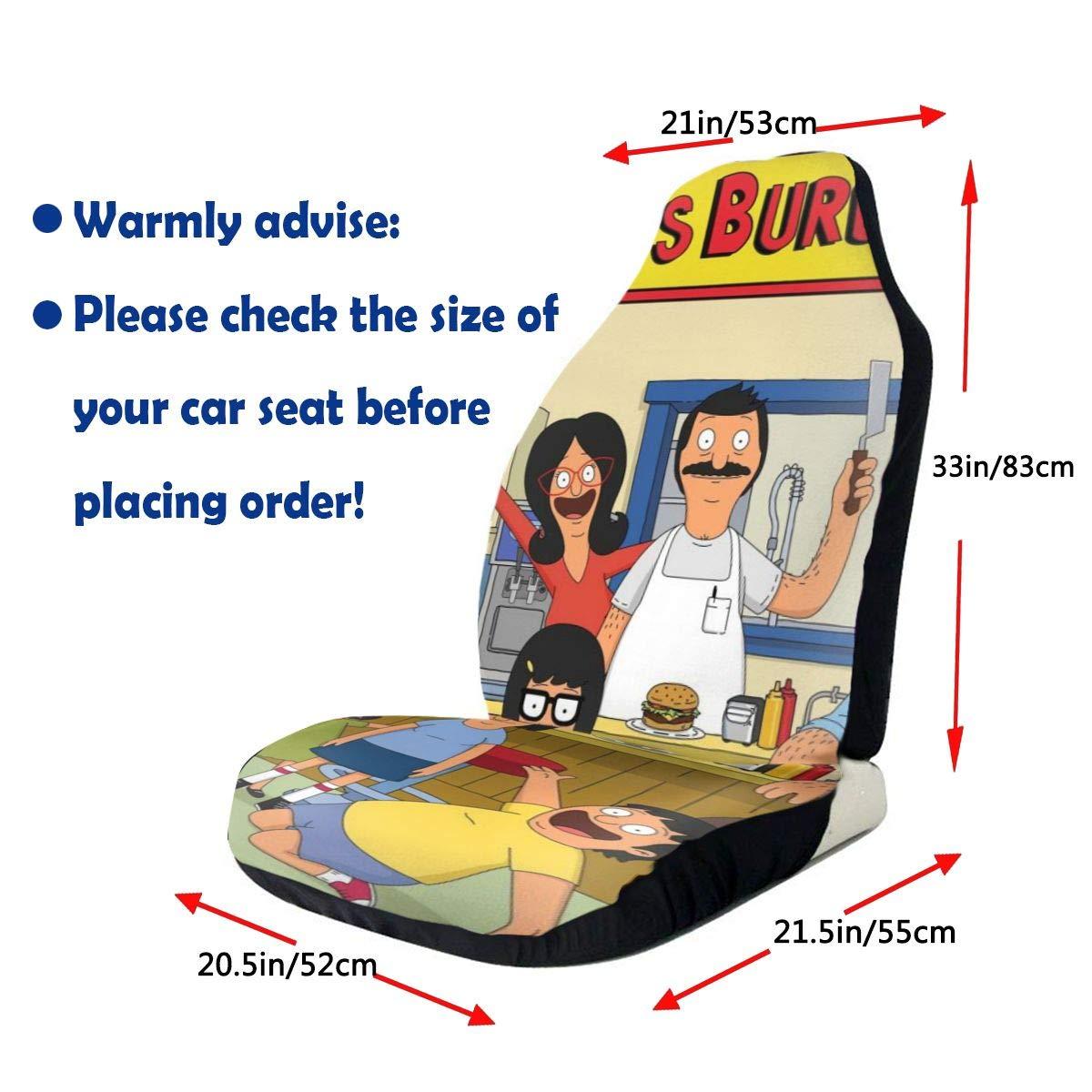 Bobs Burgers Car Seat Covers Nonslip Car Seat Cover Car Seat Protectors Tire Tracks Car Seat Accessories Fit Most Vehicle,Sedan,Truck,Van 1 Pcs