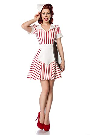 8ba71a02986e Fancy Dress Costume Retro Diner Waitress by Mask Paradise in Uniform – Flag  embroidered Collar –