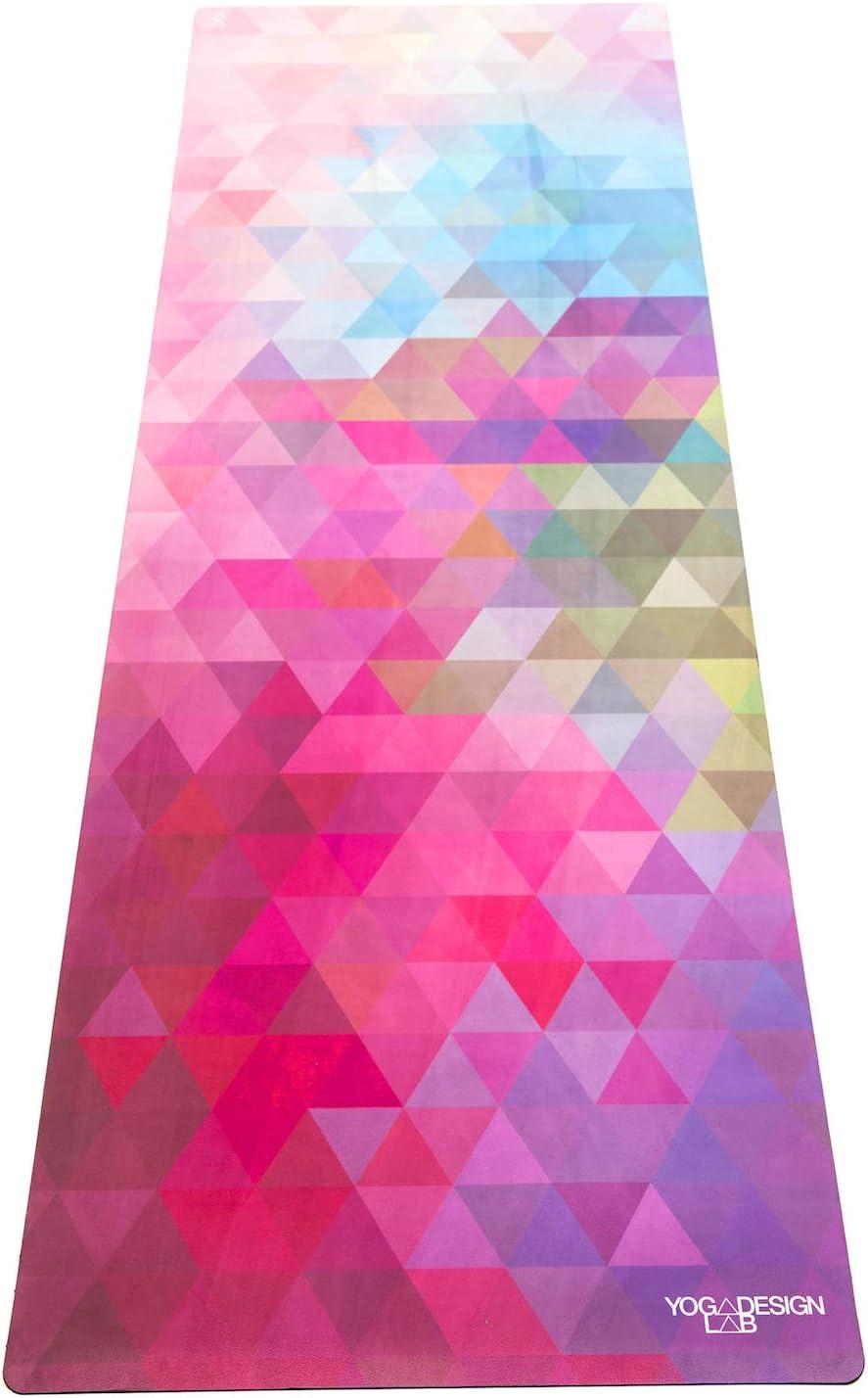 Yoga Design LAB | The Combo Yoga MAT | 2-in-1 Mat+Towel | Eco Luxury | Ideal for Hot Yoga, Power, Bikram, Ashtanga, Sweat | Studio Quality | Includes Carrying Strap!