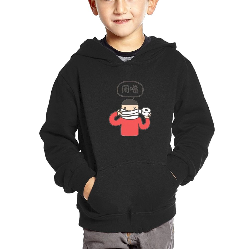 Charlotte Housman Girl Shut Up and Stop Talking Casual Style Travel Fleece Black 3 Toddler