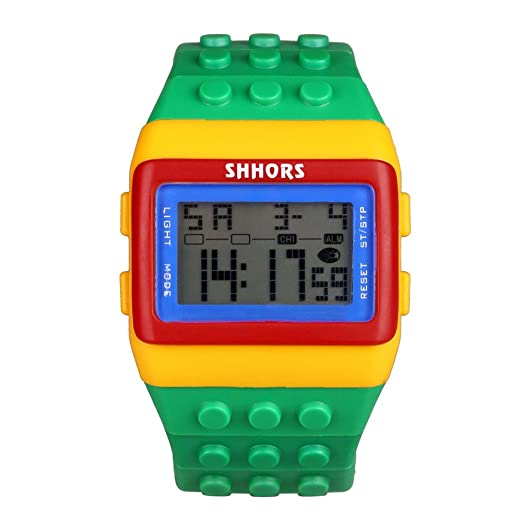 Yivise Unisex Adulto Niños Mujeres Hombres Colorido Reloj de Pulsera Digital Deportes Hora Casual Fecha Relojes