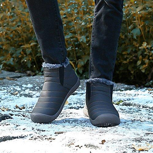 Maybest Unisex Lente Warm Wandelen Snowboots Schoenen Slip Op Horizon Laag Waterdicht Outdoor Trekking Wandelen Lichtgewicht Voor Vrouwen Mannen Een Grijs