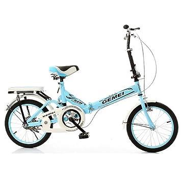 HUALQ Bicicleta Bicicleta Plegable 16 Pulgadas 20 Pulgadas Hombres y Mujeres absorción de Choque Ultra Ligero