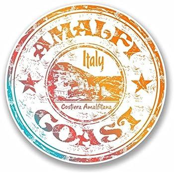 2 x Naples Italy Vinyl Sticker Car Travel Luggage #9787
