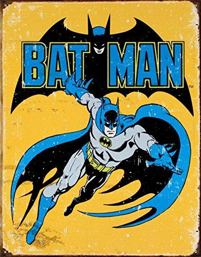 57 Batman Retro Tin Sign, 13x16, Multi-Colored ()