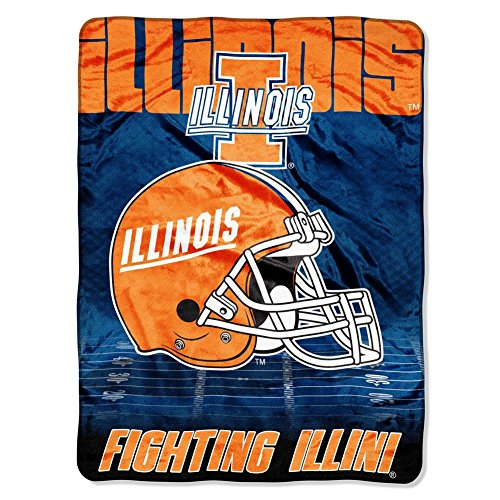 The Northwest Company University of Illinois Fleece Blanket Throw 60x80 (Illini Fighting Blanket)