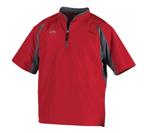 Rawlings Pro Mesh - Rawlings Men's Cage Jacket (Scarlet, Small)