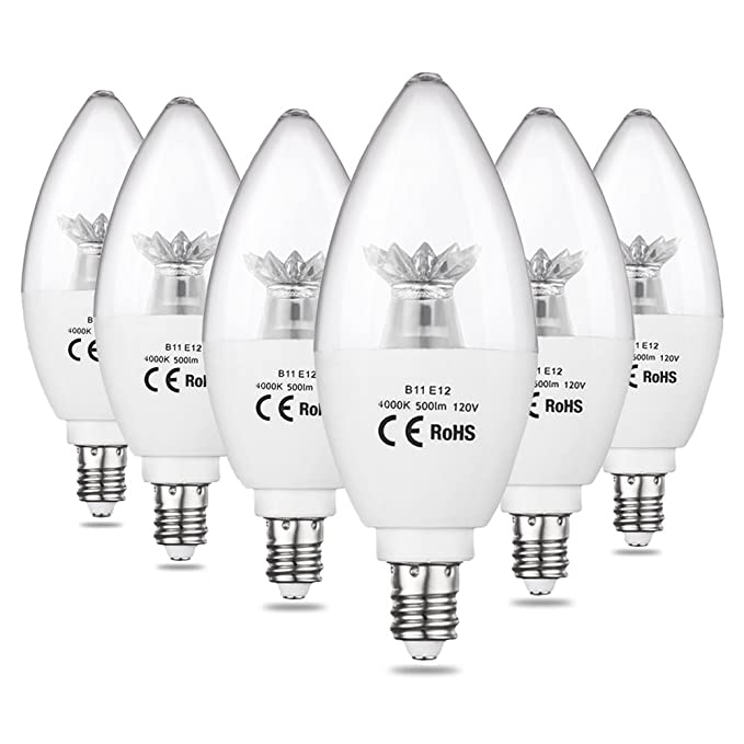 Cpla Led Candle Light Bulbs 60w Incandescent Light Bulbs Equivalent