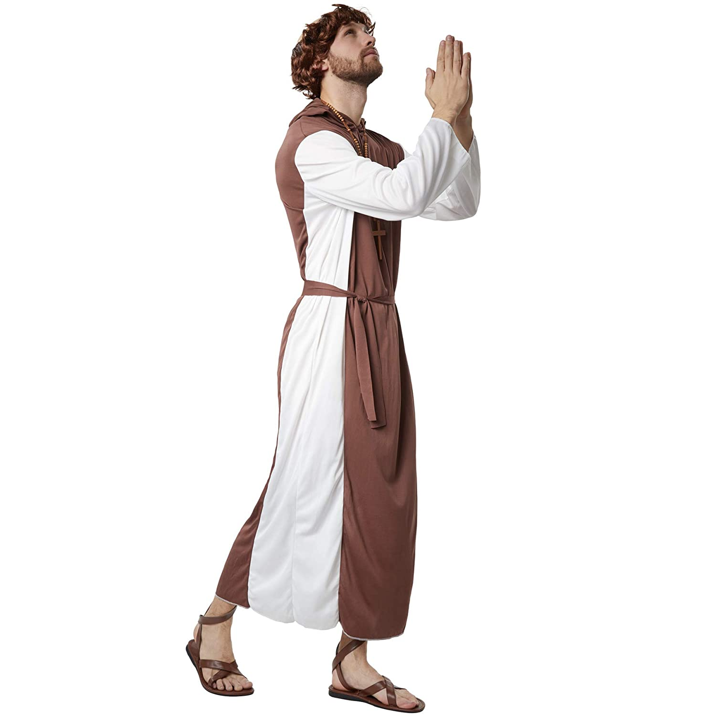 dressforfun 900530- Disfraz de Hombre Fraile Religioso, Bata ...