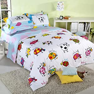 sisbay unique child lily cow cartoon beddingboys girls animal duvet covercute cow korean bed settwin queen king size