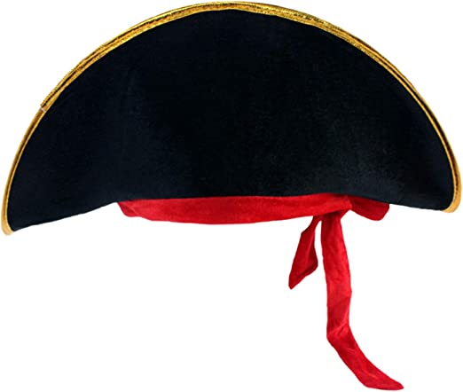 D-Fokes Pirate Hat Party Captain Costume Cap Halloween Masquerade Cosplay Accessories Props with Eye Patch