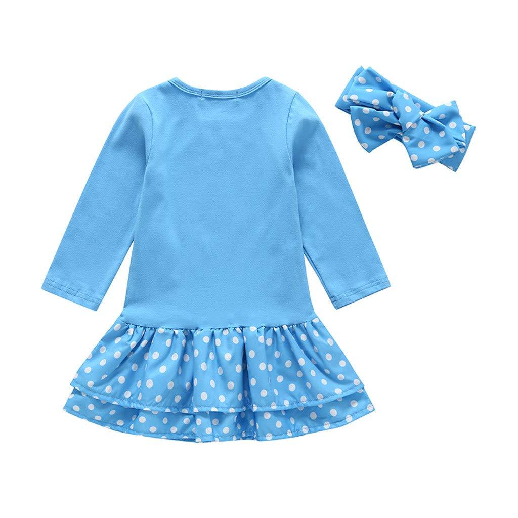 GorNorriss Baby Dress Toddler Girl Kids Clothes Long Sleeve Cartoon Deer Tops T-Shirt Dress Set