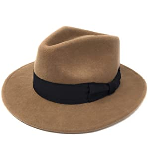 585bc31de40 Cotswold Country Hats Mens Handmade Wool Felt Indiana Style Crushable Fedora  Hat - Small