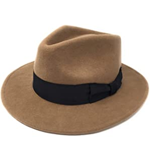 Cotswold Country Hats Mens Handmade Wool Felt Indiana Style Crushable Fedora  Hat - Small 8a74a31992c2