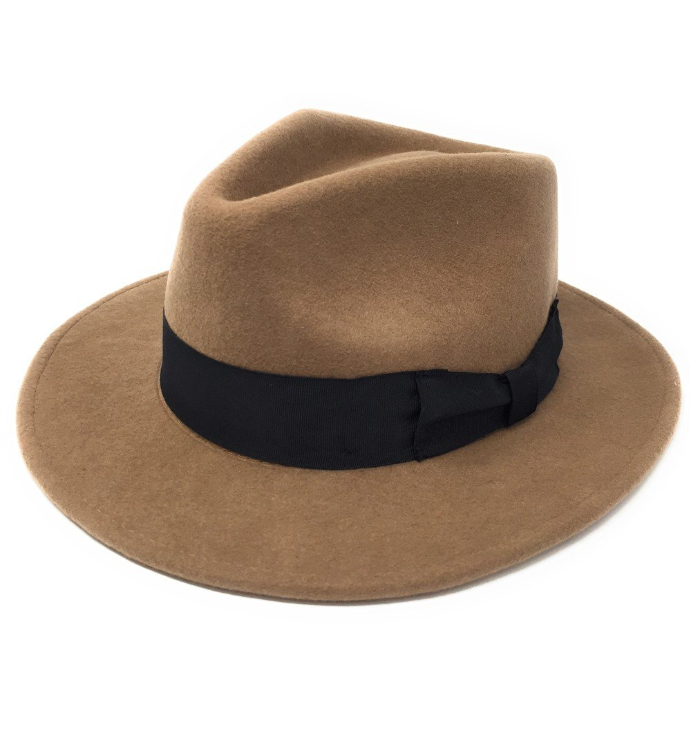 UOMO ARTIGIANALE 100% PREMIUM lana feltro indiana stile ripiegabile  Cappello Fedora - S 08153c1bfe79