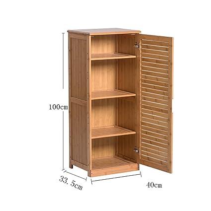 Ripiani YNN Scaffale a 4 livelli Scarpiera Bamboo Storage Armadio a ...
