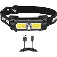 Koplamp XPG + COB + LED USB oplaadbaar, krachtig, super helder, hoofdlamp met 1000 lm, 7 modi, waterdicht en licht, voor…