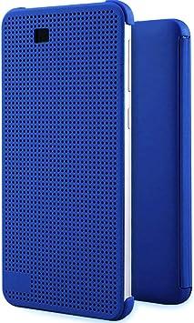 Funda HTC Desire 820, Estuche tipo punto de vista, Estuche tipo libro con diseño perforado para HTC desire 820, con función de encendido / apagado automático, azul: Amazon.es: Electrónica