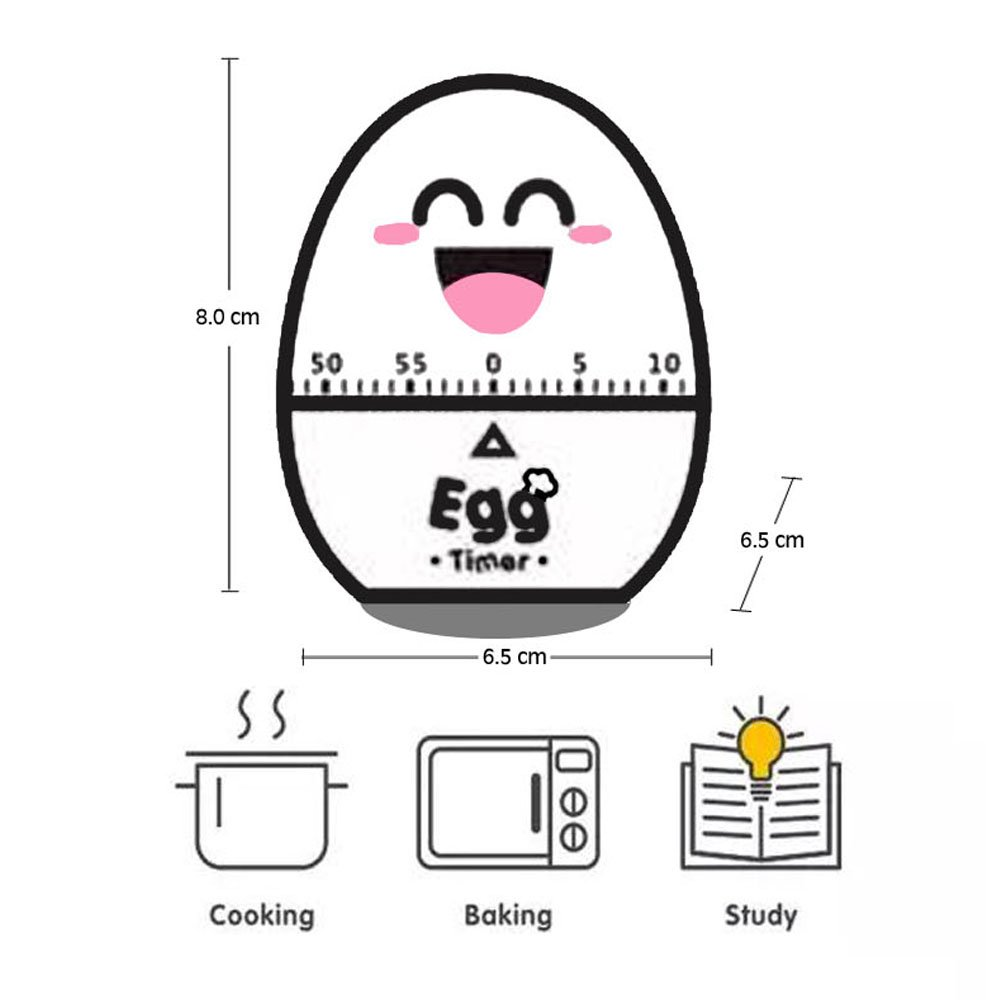 60 Minutes Egg Mechanical Kitchen Cooking Timer Alarm Kitchen Cooking Tools Kitchen Egg Timer (Rose) MAEKIJOY