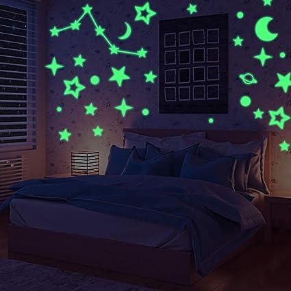 Adesivi Murali Fosforescenti.331 Pezzi Stelle Adesive Stelle Fluorescenti Nuovo Set Di Stickers Decorativi Stelline Luminose Per Soffitto Cameretta Bambini Si Illuminano Al