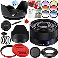 Sony Sonnar T FE 35mm F2.8 ZA Full Frame Camera E-Mount Lens (SEL35F28Z) with 49mm Filter Sets Plus Accessories Bundle