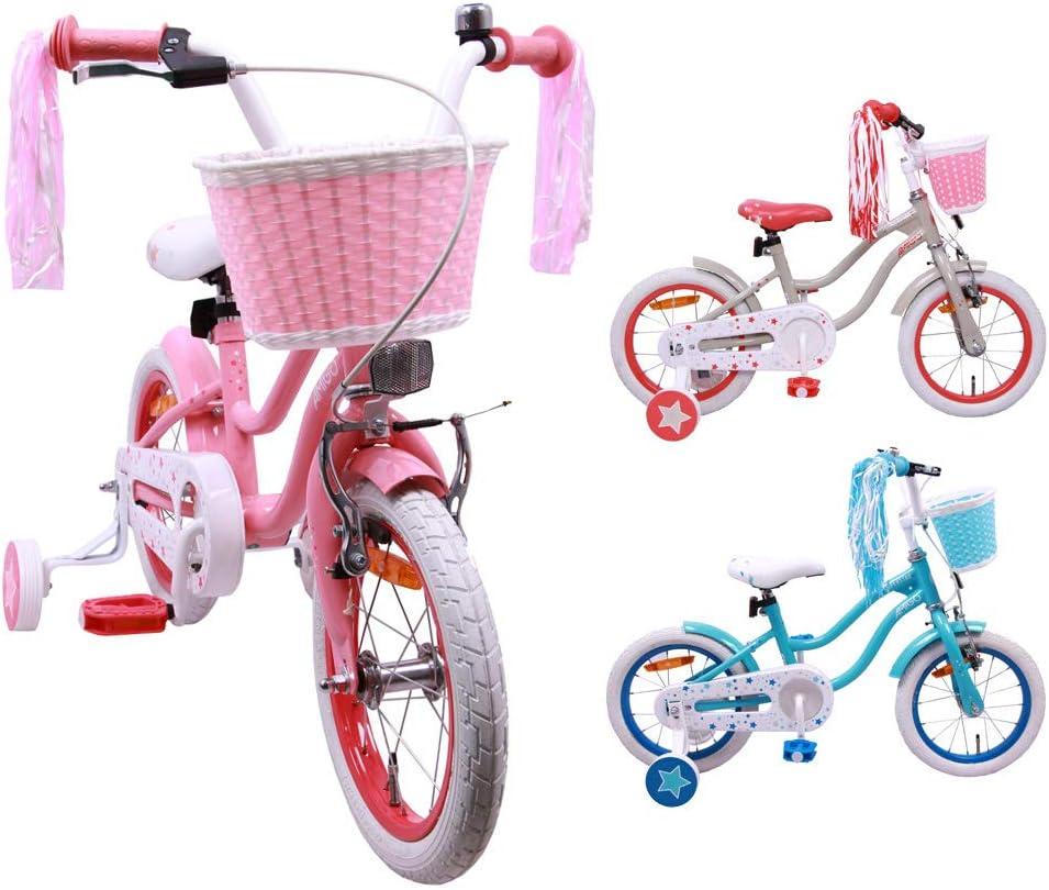 neu AMIGO Magic 12 Zoll 21 cm Mädchen Coaster bicycle fahrrad Turquoise
