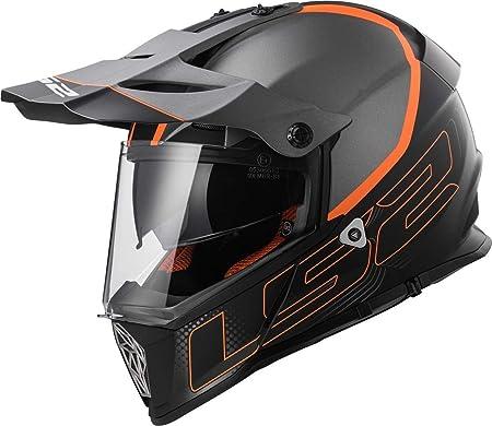 LS2/ Casco para moto Mx436/Pioneer Element color negro titanio mate talla XxS