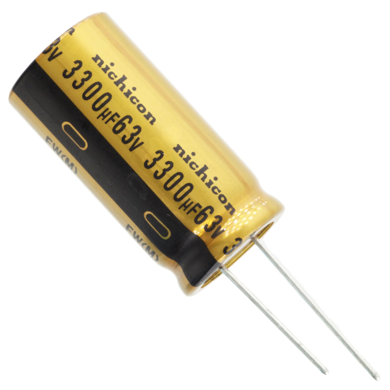 20/% Tolerance 3300uF @ 16V Nichicon UFW Audio Grade Electrolytic Capacitor