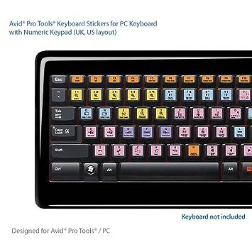 Avid Pro Tools Advanced Teclado Pegatinas Accesos directos: Amazon ...