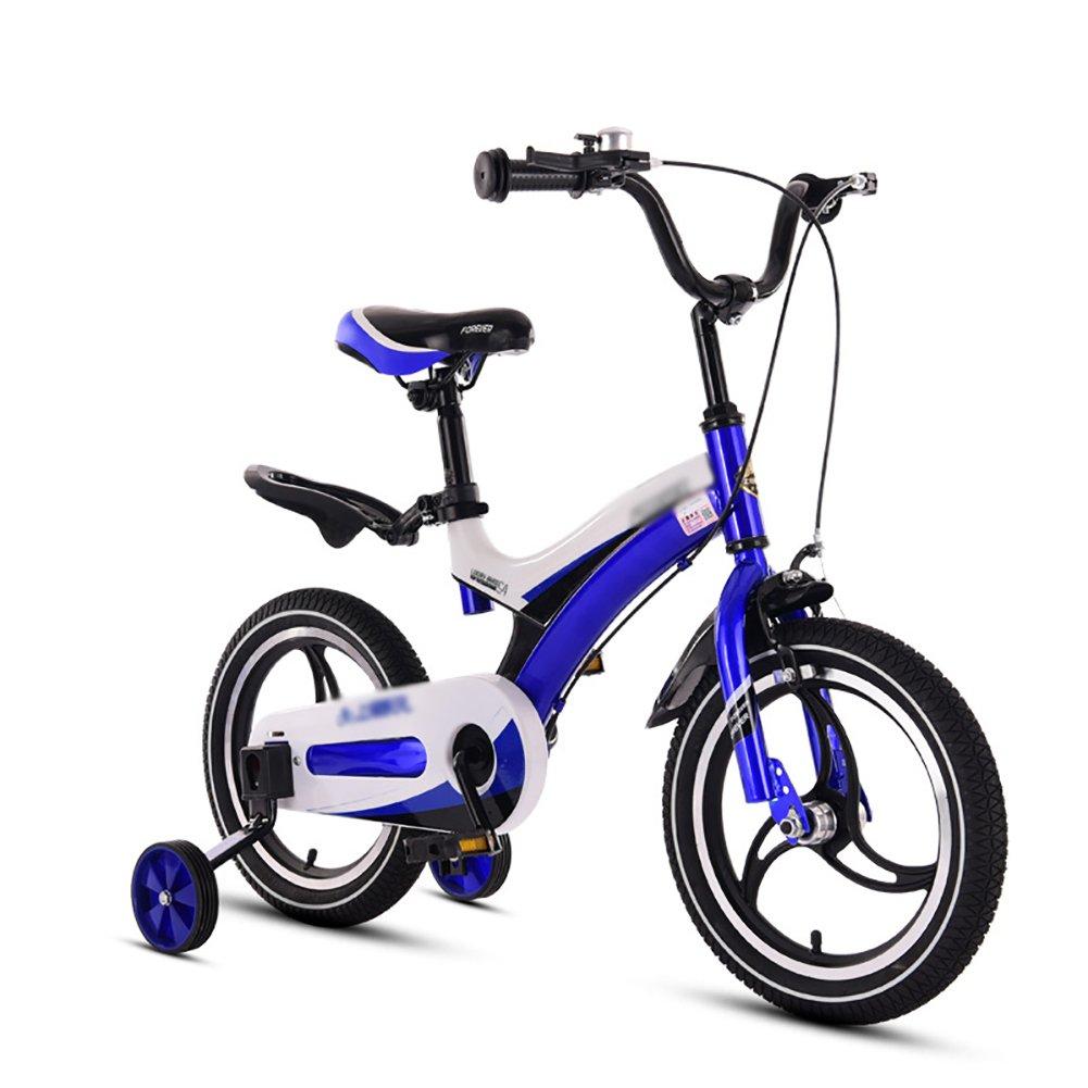 赤ちゃん少年少女自転車赤ちゃん自転車赤ちゃん自転車3歳から10歳12 14 16 18インチ青黄色赤ピンク B07DVW9J9Z 14 inch|青 青 14 inch