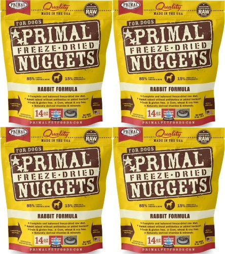 Primal Freeze-Dried Nuggets Rabbit Formula for Dogs 56oz (4 x 14oz)