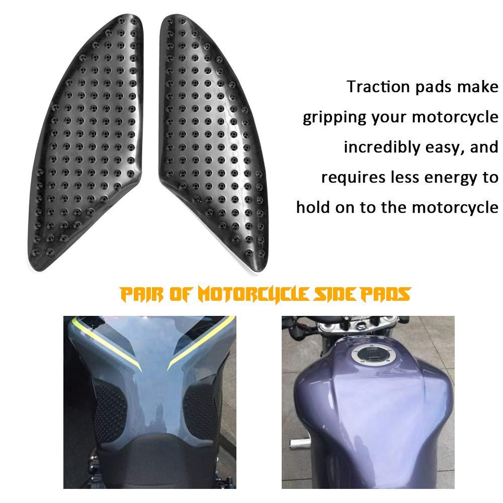 Prot/ège-r/éservoir de moto calorifuge anti-glissement autocollant coussins lat/éraux de traction du genou