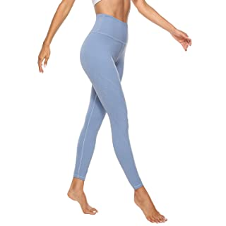 AFITNE Yoga Pants for Women High Waisted Workout Leggings with Pockets Athletic Tummy Control Gym Leggings Blue - XXL