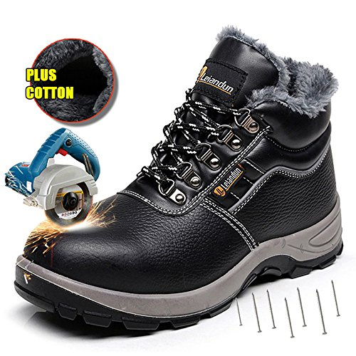 showcai Unisex Steel Toe Work Shoes Industrial&Construction Shoes Puncture Proof Safety Shoes ...